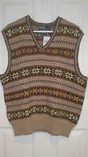 NWT POLO RALPH LAUREN Men Cotton Cashmere Blend Holiday Vest Sweater XL