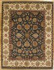8 x 10 Dense Soft Wool Blue Jaipur Wool Genuine Handmade Area Rug