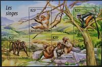 Niger 2015 /Fauna - Monkeys / 4v minisheet MNH