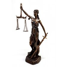ΤHEMIS Statue Goddess Lady of Justice Justitia Sculpture Bronze Finish 7.87""