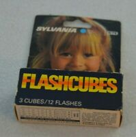 Vintage Sylvania Flashcubes 3 Cubes 12 Flashes New