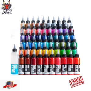 Solid Ink Tattoo Color Ink 1 oz 30ml bottle 100% Authentic Free Shipping