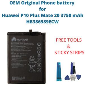 OEM Original Battery For Huawei P10 Plus Mate 20 3750 mAh Capacity HB386589ECW