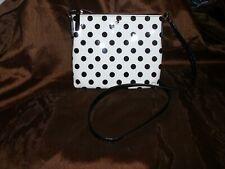 Kate Space New York Handbag Shoulder Bag White With Black Pock-dots