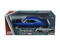 MotorMax 1:24 1969 Dodge Coronet Super Bee Diecast Model Car Blue 73315