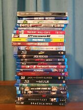 Lot of 25 Blu Ray Movies Jack Reacher Sin City Bad Boys Superbad No Digital