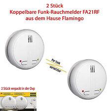 Funk Rauchmelder 40m Brandschutzmelder Brandmelder vernetzbar FA21RF/2 FA20RF CE