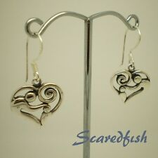 925 Sterling Silver Mom and Child in Heart Earrings