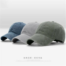 Men Solid Hats Daily Plain Washed Cap Cotton Sport Adjustable Baseball Cap Blank