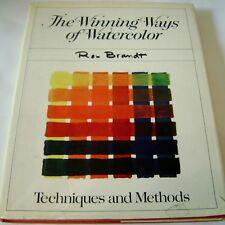 The Winning Ways of Watercolor Techniques Methods Brandt 1973 Hardcover Book