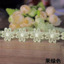 1Yard Water soluble lace Edge Trim Embroidered Fabric  DIY Sewing Applique  LS38