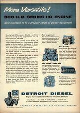 1956 General Motors Detroit Diesel Print Advertisement: 300 HP Series 110 Engine