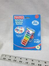 Fisher Price Basic Fun Pull-A-Tune Xlophone Key Chain Toy Works Music Fun Mini
