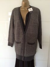 Lurex Cardigan UK 10,Charcoal, Antipodium boyfriend Cardigan Lurex Long,was £150