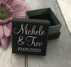 Personalised Luxury Wedding Ring Box, Ring Gift Box, Engagement Ring Gift Box