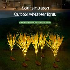LED Solar Powered Wheat Ear Flower Shape Lights Garden Outdoor Standing Decor