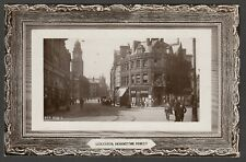 Postcard Leicester early view of Horsefair Street RP by Rapid Photo