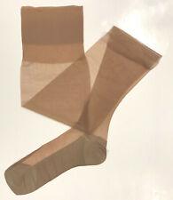 Brown Nylon Stockings 3 pairs Size 3 Seam Free Micromesh Vintage France