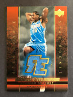 2003 04 UD Rookie Exclusives Jersey Carmelo Anthony RC Rookie Card