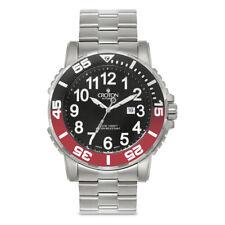 Croton Men's CA301280BKRD Deep Sea Rotating Bezel Silver Bracelet 48mm Watch