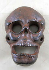 Skull Bottle Opener Cast Iron Beer Soda Beverages Bar Man Cave Rustic Decor Gift