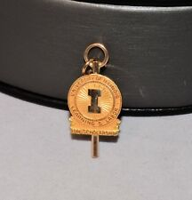 10k Gold University of Illinois Learning Labor 1933 Watch Fob Charm