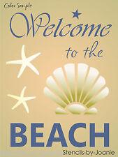 Stencil Welcome Beach Seashell Starfish Ocean Lake House Cabin Nautical Art sign