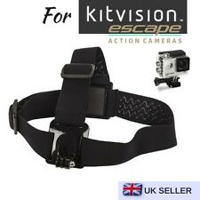 Adjustable Head Strap Mount for Action Camera Kitvision Escape 4kw Hd5w Hd5
