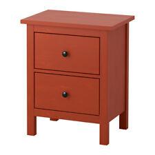 Ikea Hemnes 2 Drawers Chest - Nightstand - Red-Brown