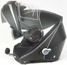 Casque Moto Viper RS-V151 FLASH Bluetooth Blinc Avant Flip Noir Mat S Schuberth
