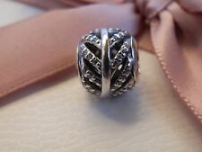 BN100% GENUINE PANDORA NEW RETIRED PAVE FEATHER CHARM-791186CZ