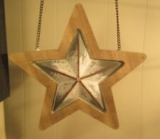 """Tin & Wood Star"" Replacement Sign - Wood & Tin Sign for Country Arrow Holders"