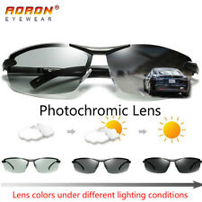 Polarized Photochromic Sunglasses Men's UV400 Driving Transition Lens Sunglasses