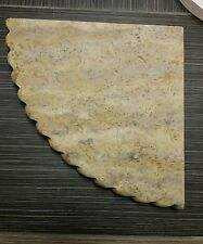 """Scabos corner shelf scalloped natural stone honed marble 9"""""""