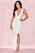 dbdbaf18d3 HOUSE OF CB  Balere  White Bandage and Lace Maxi Dress XS 6   8