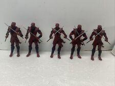 Lot 5 Loose Marvel Legends Toys R us Toy Biz Red Hand Ninja 6? Scale swords only