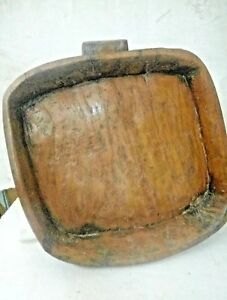 Primitive antique squire  Old Carved Wooden Trencher Butter Or Dough Bowl, Parat