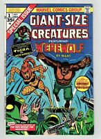 Giant-Size Creatures #1 1st Appearance Tigra 1974 Hot Bronze Age Key