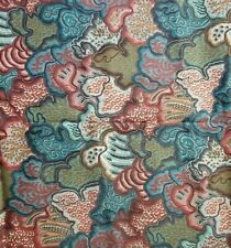 """Waverly Village Quilt Classics Fabric Red Green Cotton Upholstery 36"""" OR 102"""""""