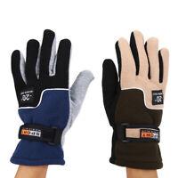 1 par / set guantes de vellón de dedo completo de bicicleta caliente masculina