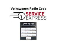 Official VW Radio Code Beta Gamma RCD510 RCD500 RCD310 RCD300 RCD215 RCD210 etc