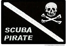 SCUBA PIRATE embroidered PATCH DIVE FLAG BLACK iron-on SKULL CROSSBONES EMBLEM