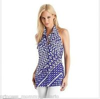 GUESS by Marciano Leena Silk Blouse Shirt Halter Printed Top Size S Small NEW