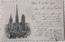 CPA 76 Rouen  Flèches de la Cathédrale 1901