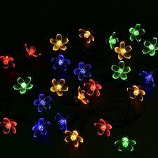 21FT 50LED String Fairy Light Solar Powered Christmas Flower Garden Decor Lamp