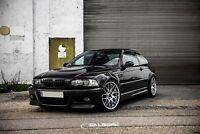hochglänzend schwarze Nieren 3er BMW E46 Coupe M3 VFL Frontgrill salberk 4603DL