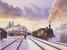 M7 Corfe Castle Swanage Southern Railway BR Steam Train Christmas Xmas Card