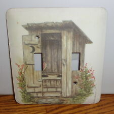 Outhouse Double Switchplate Cover.Free Shipping