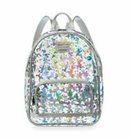 Disney Parks Mickey Mouse Magic Mirror Clear Metallic Loungefly Backpack New