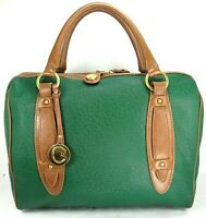 Cynthia Rowley Green Leather Zip Zip Satchel/Hand Bag